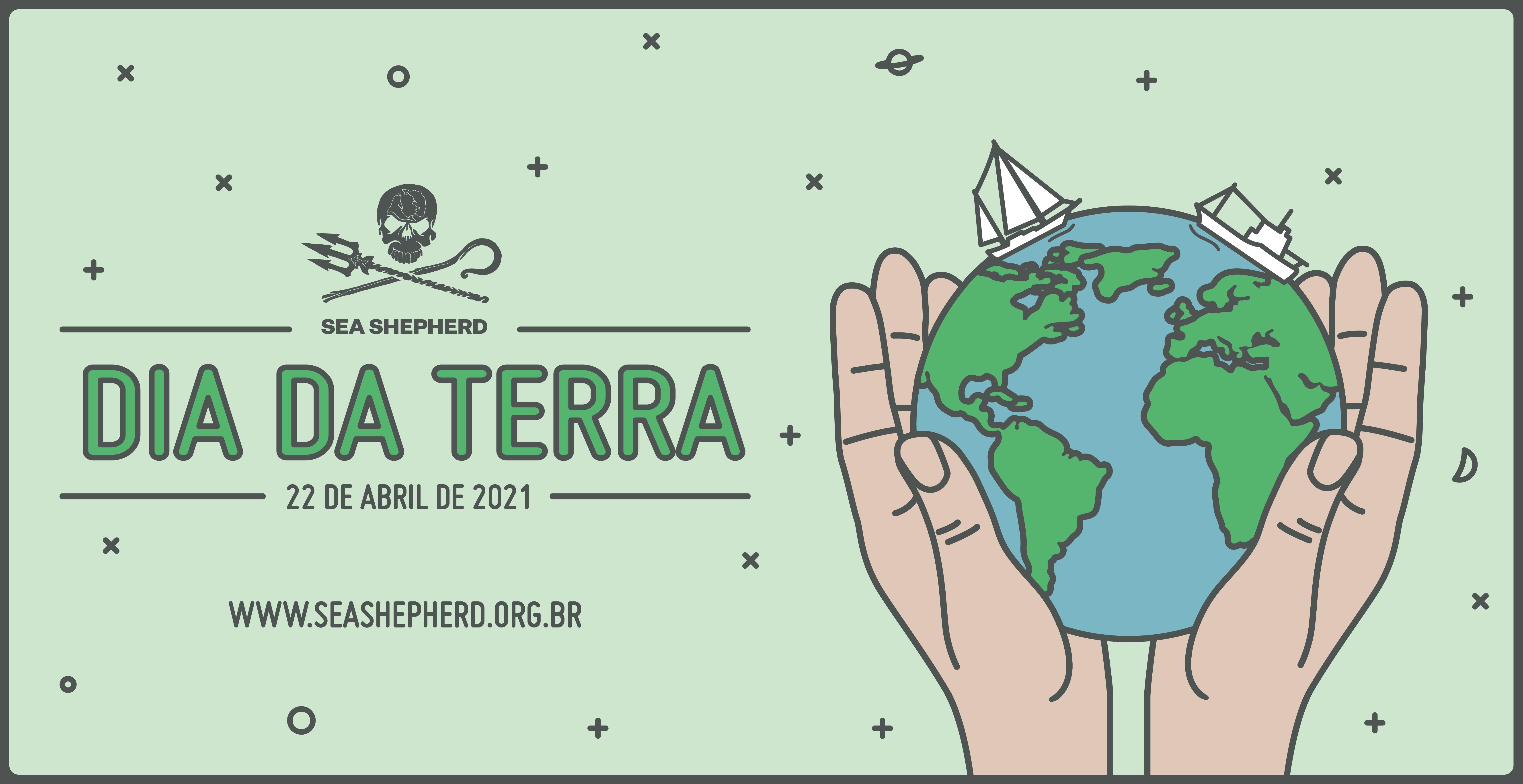 Dia da Terra - Mãos segurando o planeta
