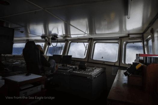 Interior do Sea Eagle