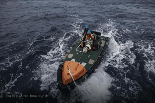 Bote de apoio do Sea Eagle