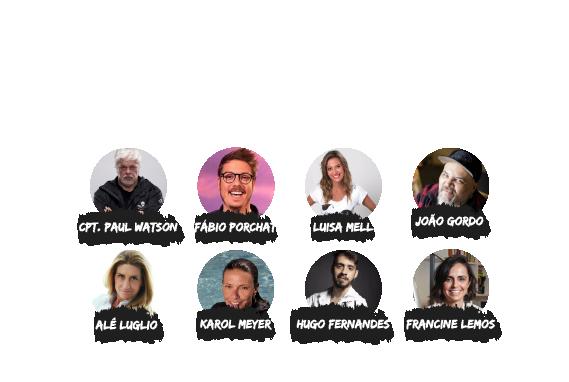 Na semana do meio ambiente, a Sea Shepherd Brasil apresenta seu maior evento virtual. Convidados especiais: Capitão Paul Watson, Fabio Porchat, Luisa Mell, João Gordo, Alê Luglio, Karol Meyer, Hugo Fernandes, Francine Lemos