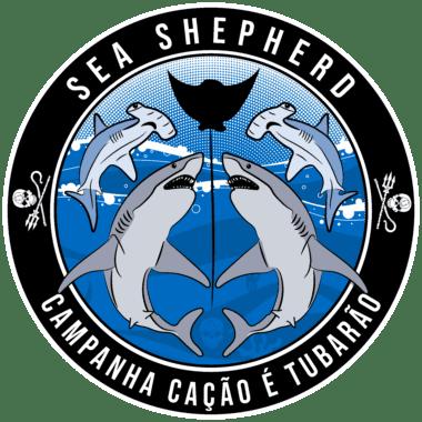 Logotipo da campanha Cação é Tubarão