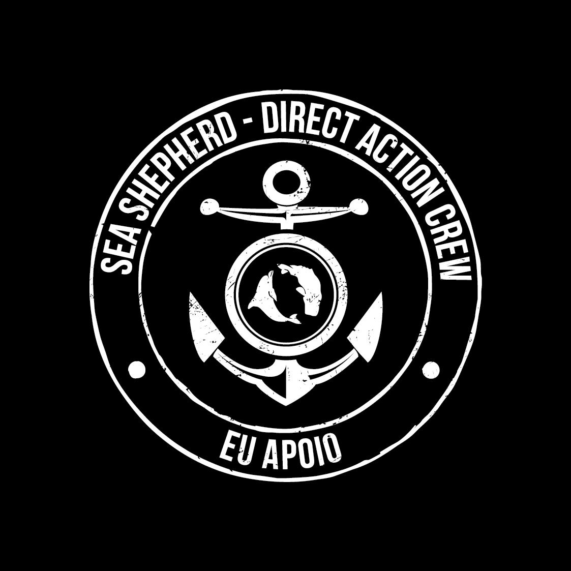 Logo Sea Shepherd - Direct Action Crew - Eu Apoio